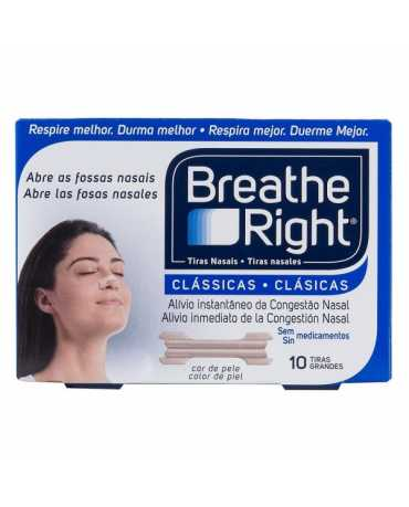 TIRAS NASALES BREATHE RIGHT MED/GDE 10 U