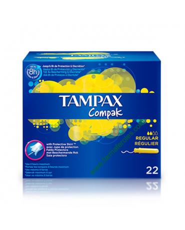TAMPAX COMPAK TAMPON 100%ALGODON REGULAR 22 U