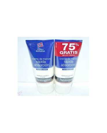 NEUTROGENA CREMA DE MANOS RAPIDA ABSORCION 75 ML 2 UNIDADES