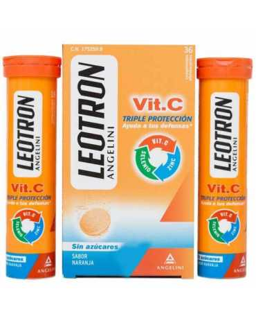 LEOTRON VITAMINA C ANGELINI COMP EFERVESCENTES 36 COMP