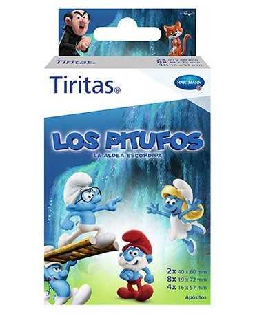 TIRITAS APOSITO ADHESIVO PITUFOS 3 TAMAÑOS 14 TIRITAS