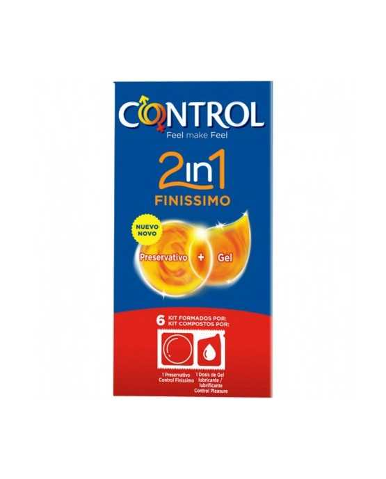 CONTROL 2IN1 FINISSIMO PRESERVATIVOS 6 U